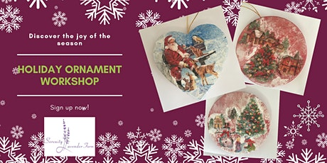 Decoupage Holiday Ornaments tickets