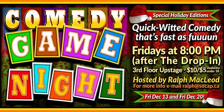 Comedy Games Night: Holiday Edition tickets