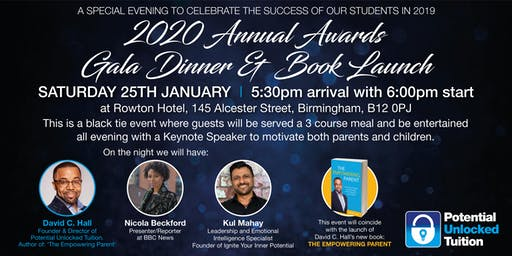2020 Potential Unlocked Annual Awards Gala Dinner  & Book Launch