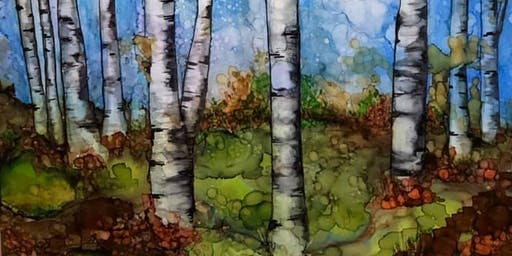 Explore Painting with Alcohol Ink - Birch Trees