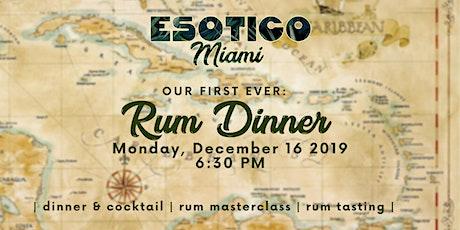 Esotico Miami Rum Dinner tickets