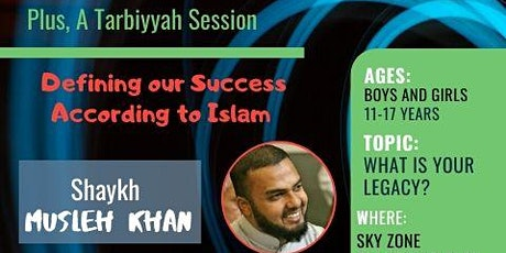 Youth Go Trampolining at Sky Zone with Shaykh Musleh Khan tickets