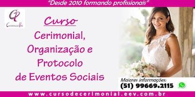 Curso de Cerimonial, Organização e Protocolo de Eventos - Domingo