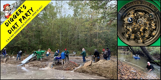 Digger's Dirt Party: Gold Mining Common Dig at Vein Mountain Gold Camp, NC