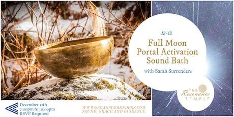 Full Moon Portal Activation Sound Bath billets