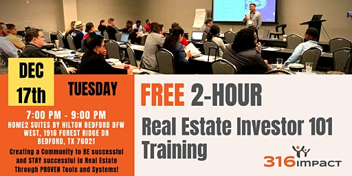 December 17th: FREE 2-Hour Real Estate Investor 101 Training in Bedford