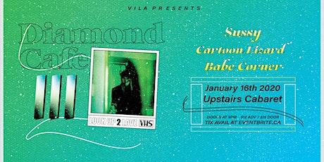 Diamond Cafe, Babe Corner, Cartoon Lizard, Sussy tickets