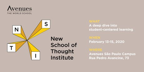 Avenues New School of Thought Institute 2020 ingressos