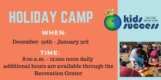 Christmas Holiday Camp with Kids on the Move for Success | Antoinette Tuff
