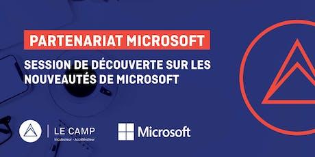 Session de découverte sur les nouveautés de Microsoft billets