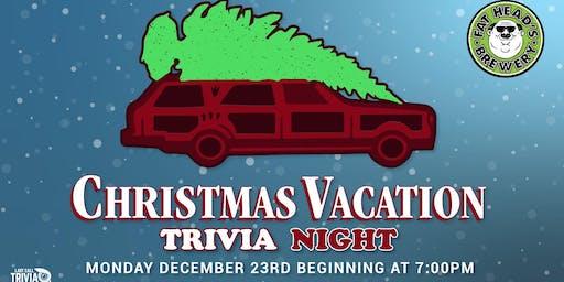 Christmas Vacation Trivia Night