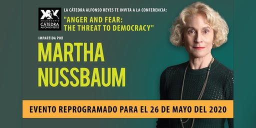Conferencia Anger and Fear: the Threat to Democracy con Martha Nussbaum