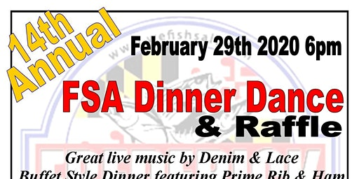 Frederick Saltwater Anglers 14th Annual Dinner Dance & Raffle