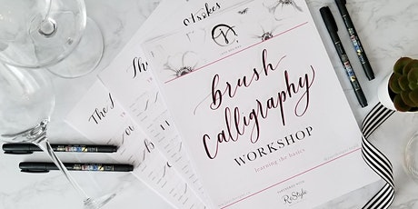 Sip & Script - Intro to Brush Calligraphy Workshop tickets