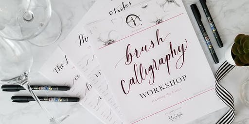 Sip & Script - Intro to Brush Calligraphy Workshop