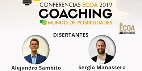 """CONFERENCIAS ECOA 2019 COACHING """"MUNDO DE POSIBILIDADES"""" entradas"""