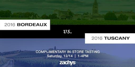 The 2016 Historic Vintage Wine Challenge - Bordeaux vs. Tuscany