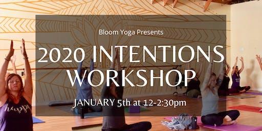 2020 Intentions Workshop