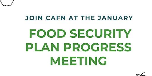 January Food Security Plan Progress Meeting