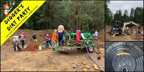 Digger's Dirt Party: Gold Mining Common Dig at Oconee Gold Camp, SC tickets