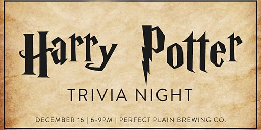 2nd Annual  Holiday Harry Potter Trivia Night