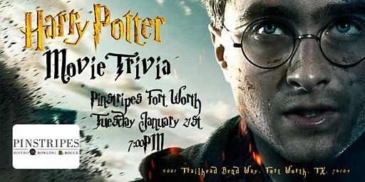 Harry Potter Movies Trivia at Pinstripes Fort Worth
