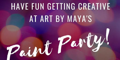Art by Maya's Holidays Paint Party!
