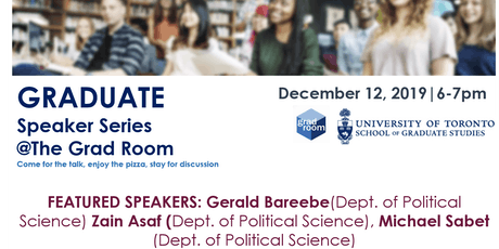 Comparative politics - Graduate Speaker Series tickets