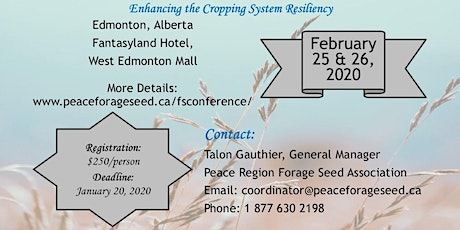 Canadian Forage Seed Conference tickets