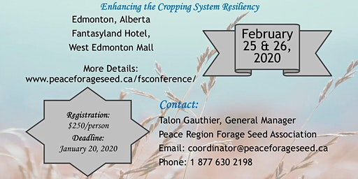 Canadian Forage Seed Conference