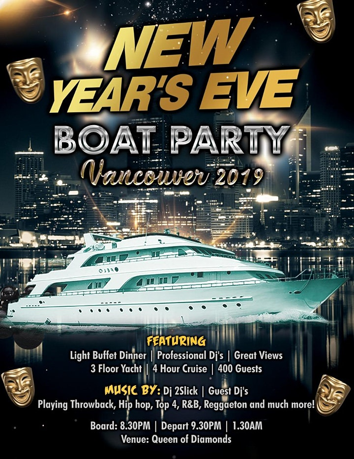 New Year's Eve Boat Party Vancouver 2020 image