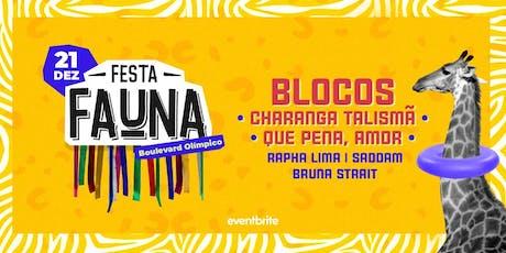 FAUNA convida: Charanga Talismã & Que Pena, Amor | Dose Dupla de Gin ✨ ingressos