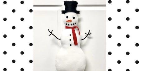 Crafts & Cocktails DIY Snowman tickets