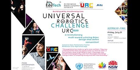 UNIVERSAL ROBOTICS CHALLENGE (URC) 2020 Australia's FINAL tickets