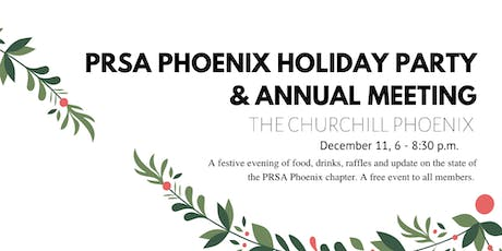 2019 PRSA Phoenix Annual Meeting & Holiday Party  tickets