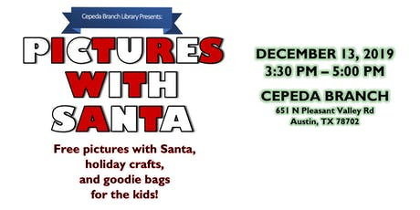 Pictures with Santa, plus holiday crafts! FREE! tickets