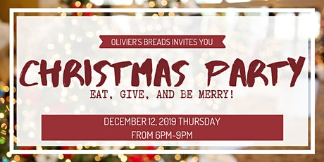 Christmas Party 2019 at Olivier's Breads tickets