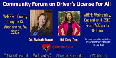 Community Forum on Driver's Licenses For All