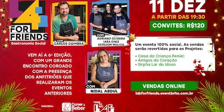 LAB FOR FRIENDS - Gastronomia Social ingressos
