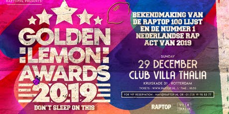 Golden Lemon Awards And Afterparty Club Villa Thalia Reünie X Snelle tickets
