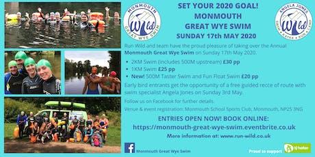 Monmouth Great Wye Swim 2020 tickets