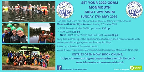 Monmouth Great Wye Swim 2020 tickets