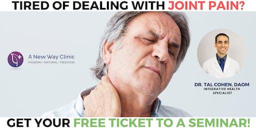 Arthritis Pain Seminar w/ Dr. Cohen, DAOM in Eugene OR