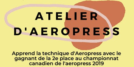 Atelier Aeropress tickets