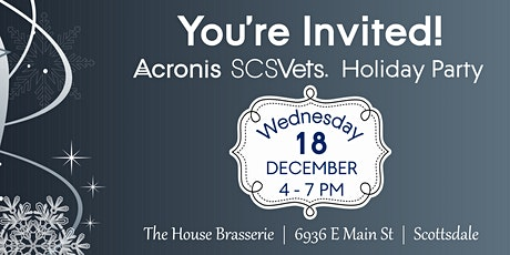 Acronis SCSVets Holiday Party tickets