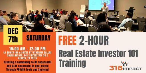 December 7th: FREE 2-Hour Real Estate Investor 101 Training in DeSoto