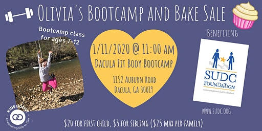 Olivia's Bootcamp and Bake Sale