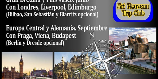 """Viajes al  Art Nouveau Europeo 2020"" conferencia audiovisual AANBA"