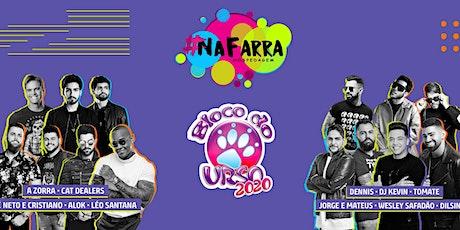 #NaFarra Bloco do Urso 2020 ingressos