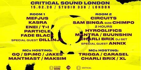 Critical Sound // London tickets